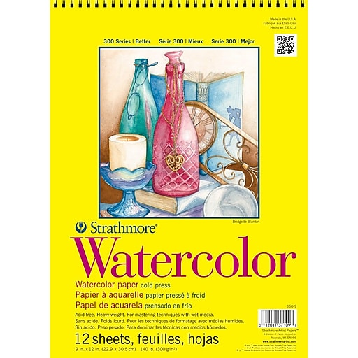 """Strathmore® 140 lbs. Cold Pressed Watercolor Wire Paper Pad, 9"""" x 12"""""""