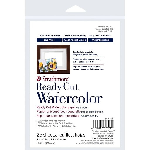 Strathmore® 140 lbs. Cold Pressed Watercolor Paper, 5\