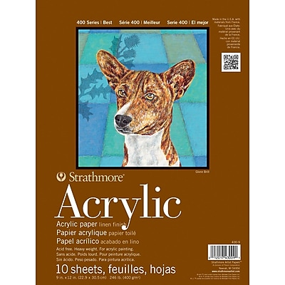 Strathmore® Acrylics Heavyweight Painting Pad, 9
