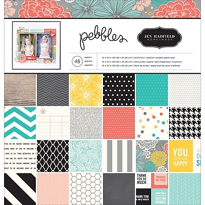 American Crafts™ Pebbles Paper Pad, Homemade, 12