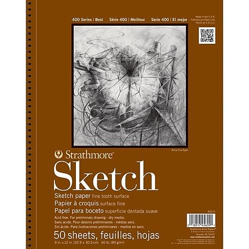 "Strathmore® 60 lbs. Sketch Paper Pad, 11"" x 14"""