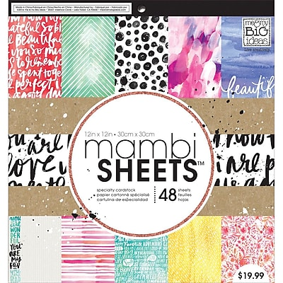 Me & My Big Ideas Mambi Paper Pad, Paint Palette, 12