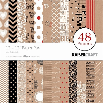 Kaisercraft Paper Pad, Mix & Match, 12
