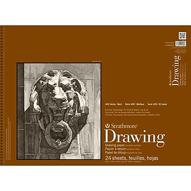 Strathmore® 80 lbs. Smooth Surface Drawing Paper Pad, 18