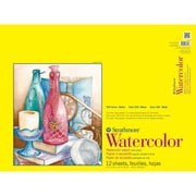 "Strathmore® 140 lbs. Cold Pressed Spiralbound Watercolor Paper Pad, 18"" x 24"""