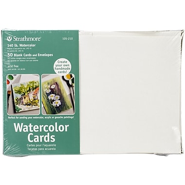 Strathmore® Cold Pressed Watercolor Cards And Envelopes, 5