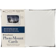 "Strathmore® Decorative Emboss Photo Mount Cards & Envelopes, 5"" x 7"", White"