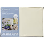 """Strathmore® Cards And Envelopes, 5"""" x 7"""", Ivory/Deckle"""