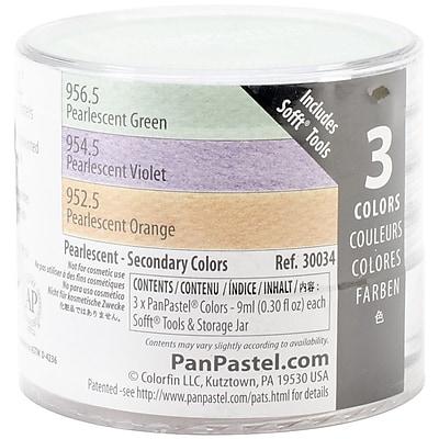 Colorfin PanPastel® Pearlescent 9 ml Artist Pastels Set, Green/Orange/Violet