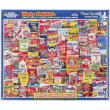 White Mountain Puzzles® 1000 Pieces Jigsaw Puzzle, Wacky Packages