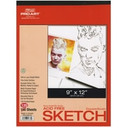 "Pro Art Twin Pack Sketch Paper Pad, 9"" x 12"", Bright white"