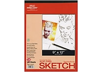 Pro Art Twin Pack Sketch Paper Pad, 9' x 12', Bright white