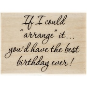 "Penny Black® Mounted Rubber Stamp, 1 3/4"" x 2 1/4"", Best Birthday"
