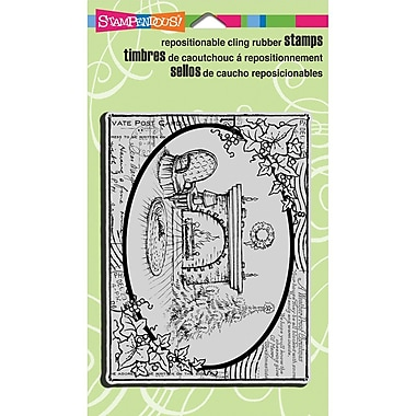 Stampendous® Christmas Cling Rubber Stamp Sheet, 4