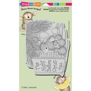 """Stampendous® House Mouse Cling Rubber Stamp Sheet, 4 1/2"""" x 7 3/4"""", Christmas Story"""