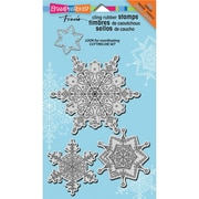 "Stampendous® Christmas Cling Rubber Stamp Sheet, 3 1/2"" x 4"", Delicate Snow"