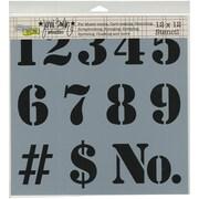 "Crafters Workshop Doodling Template, 12"" x 12"", Number"