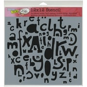 """Crafters Workshop Doodling Template, 12"""" x 12"""", Kasia's Letters"""