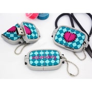 Smartneedle Novelty 2GB Mini Embroidery Hoop USB Drive, Aqua