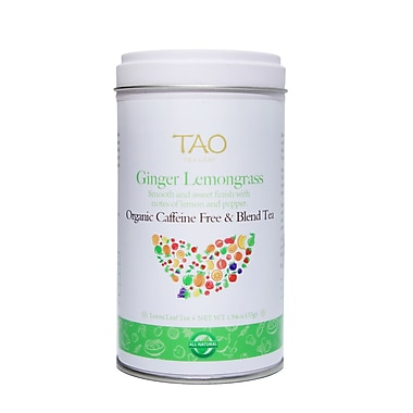Tao Tea Leaf Organic Ginger Lemongrass Herbal Tea, 55g Loose Tea