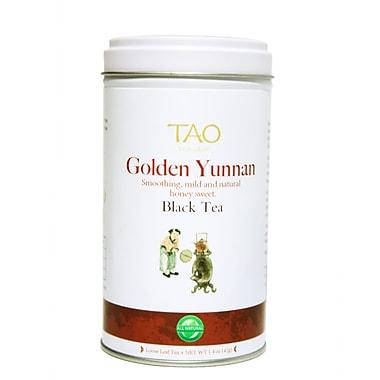 Tao Tea Leaf Organic Golden Yunnan Black Tea, 42g Loose Tea Tin