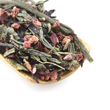 Tao Tea Leaf Organic Raspberry Green Tea, 50g Loose Tea