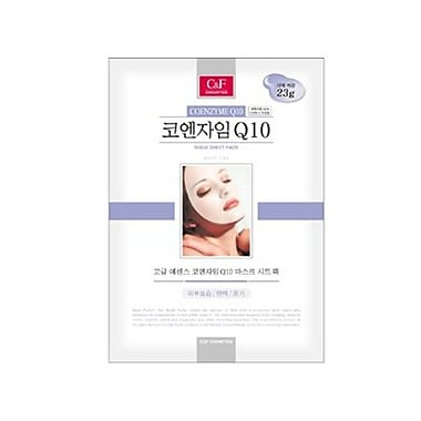 Mj Care – Masque tissu avec Coenzyme Q10, 5/paquet