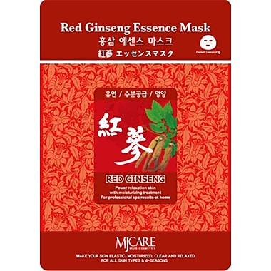Mj Care Red Ginseng Essence Mask Sheet, 5/Pack