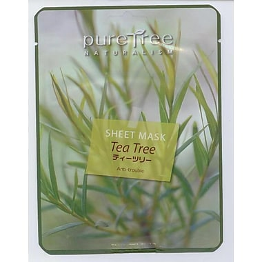 Puretree Naturalism – Masque tissu aux extraits d'arbre à thé, 5/paquet