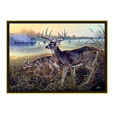 Custom Printed Rugs Wildlife Boy's Club Brown Area Rug; 3'1'' x 4'4''