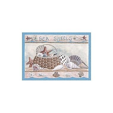 Custom Printed Rugs Home Accents Seashells Area Rug; 3'1'' x 4'4''