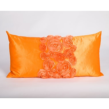 Debage Inc. Spring Flower Lumbar Pillow; Orange