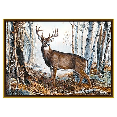 Custom Printed Rugs Wildlife Whitetail Novelty Outdoor Area Rug; 3'1'' x 4'4''