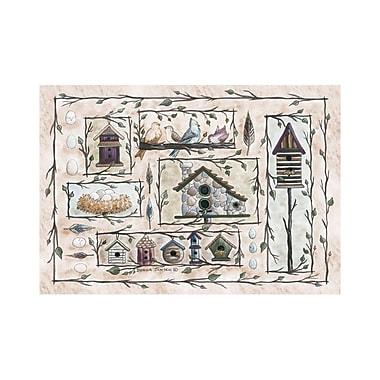 Custom Printed Rugs Home Accents Bird Houses Beige Area Rug; 3'1'' x 4'4''