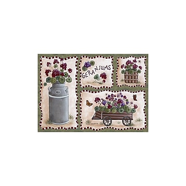 Custom Printed Rugs Home Accents Geraniums Area Rug; 3'1'' x 4'4''