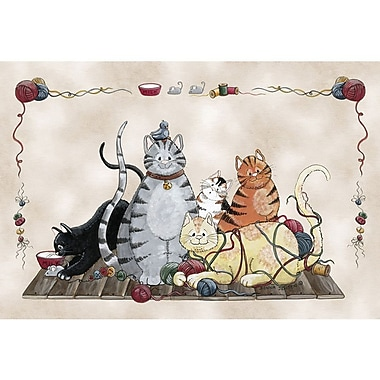 Custom Printed Rugs Home Accents Granny's Cats Area Rug; 3'1'' x 4'4''