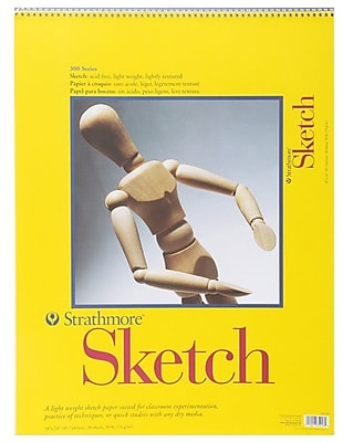 Pro-Art Strathmore Spiral Sketch Book, 18