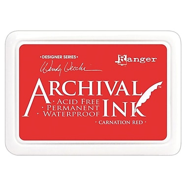 Ranger AID-41399 Wendy Vecchi Designer Series Carnation Red Archival Ink Pad, 4