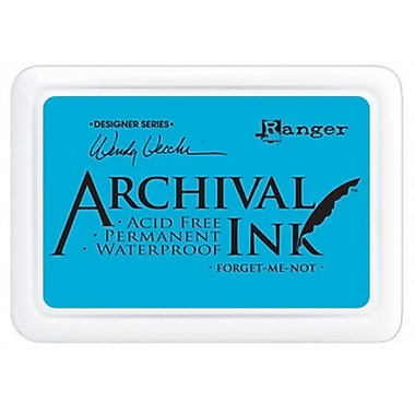 Ranger AID-41412 Wendy Vecchi Designer Series Forget-Me-Not Archival Ink Pad, 4