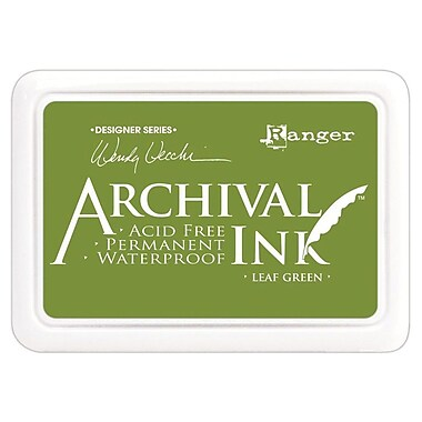 Ranger AID-41436 Wendy Vecchi Designer Series Leaf Green Archival Ink Pad, 4