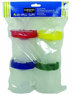 Sargent Art Non-Spill Paint Cup With Poly Bag, 4/Pack 1110650