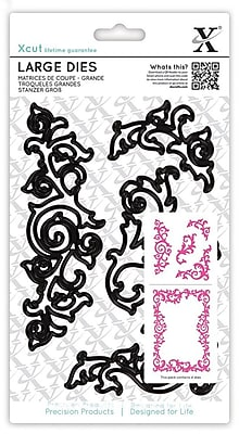 Docrafts Xcut Large Decorative Dies, Leafy Flourises