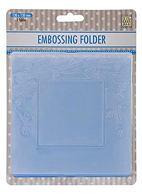 Ecstasy Crafts Nellie's Choice Spring In The Air Embossing Folder, Square Frame W/Square Opening