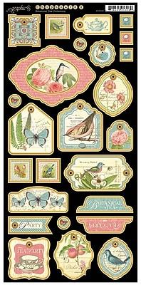 Graphic 45 Chipboard 2 Die-Cuts, Botanical Tea