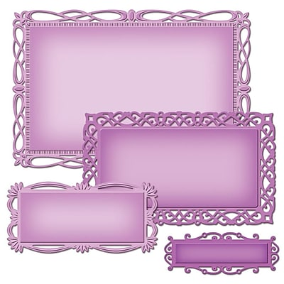 Spellbinders® Nestabilities® Decorative Elements Dies, Romantic Rectangles 2