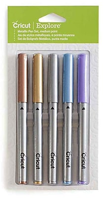 Provo Craft Cricut Explore Color Medium Point Pen Set, Metallic