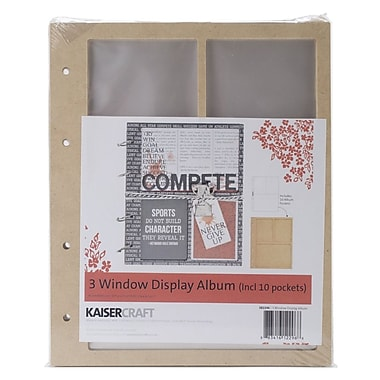 Kaisercraft Beyond The Page MDF 3 Window Display Album With 10 Pockets, 6 3/4