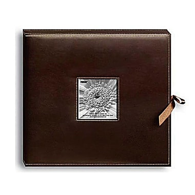 Pioneer Sewn Leatherette D-Ring Scrapbook Box, 13