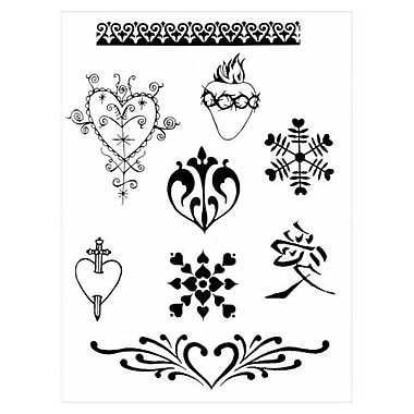 Earth Henna® Stencil Transfer Pack, Hearts & Valentines