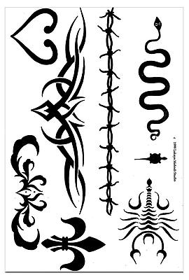 Earth Henna® Stencil Transfer Pack, Tribal Series
